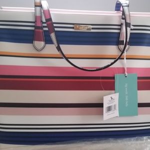 NWT Multi-striped Kate Spade Diaper Bag